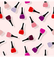 multi colored nail polish seamless pattern vector image