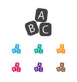 of child symbol on abc bloks vector image
