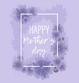 pastel violet floral background for mother s day vector image vector image