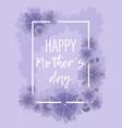pastel violet floral background for mother s day vector image