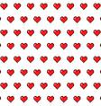 Pixel Hearts vector image vector image