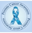 Prostate cancer awareness stamp vector image