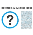 Question Icon with 1000 Medical Business Symbols vector image vector image