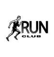 run club the running man logo emblem vector image