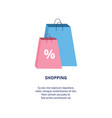 sale advertising banner with shopping bags flat vector image vector image