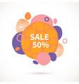 sale-bubbles-orange vector image