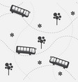 seamless pattern with bus vector image vector image