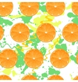 Seamless pattern with oranges texture vector image