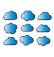 Set of Flat Cloud Shaped Frames with Long Shadows vector image vector image