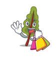 shopping chard character cartoon style vector image