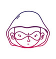 sihouette thief crimical head with mask design vector image