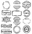 Stamp collection vector image vector image