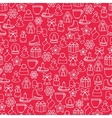 Stock pattern of winter and Christmas vector image