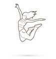 street dance b boys dance dancing action outline vector image
