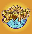 summer typeface modern tropical vector image