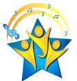 Teamwork singers logo vector image