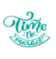 time to market vintage text hand drawn vector image