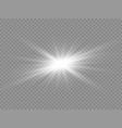 transparent light effect vector image