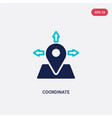 two color coordinate icon from general-1 concept vector image vector image
