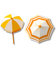 Umbrella from top view vector image vector image