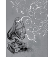 Vintage Gramophone vector image vector image