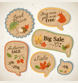 vintage seasonal sale stickers set vector image vector image