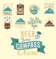 vintage typography travel motivation badge nature vector image vector image