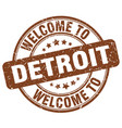 welcome to detroit vector image vector image