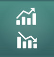 white up and down graph icon in trendy flat style vector image