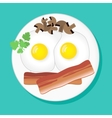 with fried eggs vector image vector image