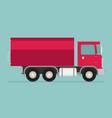 delivery transport truck van flat vector image