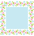 Colorful Flowers Border vector image