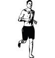drawing of running man silhouette vector image