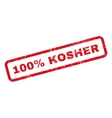 100 Percent Kosher Text Rubber Stamp vector image vector image