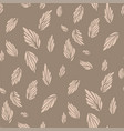 abstract floral semaless pattern in a shape of a vector image vector image