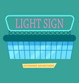 advertising light sign on market poster vector image vector image