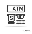 atm outline icon black color vector image