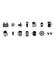 beer icon set simple style vector image vector image