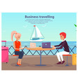 business travelling man woman vector image