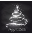 Christmas tree from stars on chalkboard vector image vector image