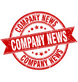 company news round grunge ribbon stamp vector image vector image