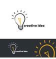 creative idea logo template vector image vector image