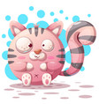 cute funny - cartoon cat characters vector image vector image
