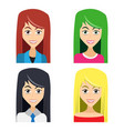 cute of beautiful young girls with various wears vector image vector image