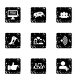 E-mail icons set grunge style vector image vector image