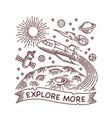 explore more galaxy line vector image vector image