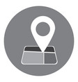 flat pointer on map gps pointer vector image