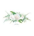 floral bouquet design garden ivory white creamy vector image vector image