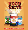 food drive poster vector image