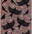 forest bird flock vector image